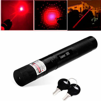 303 Red Laser Pointer Pen High Power Adjustable Focus Burning 532nm 1mw
