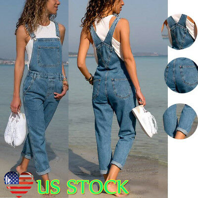 Machine Women Jeans Jumpsuit Skinny Casual Boyfriend Baggy Denim Overall Rompers