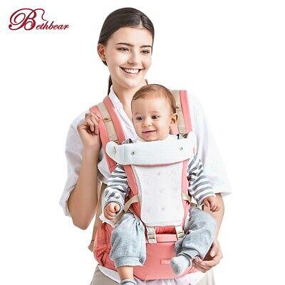 Bethbear Hipseat Newborn 4 in 1 Ergonomic Baby Carrier Kid Sling Backpack