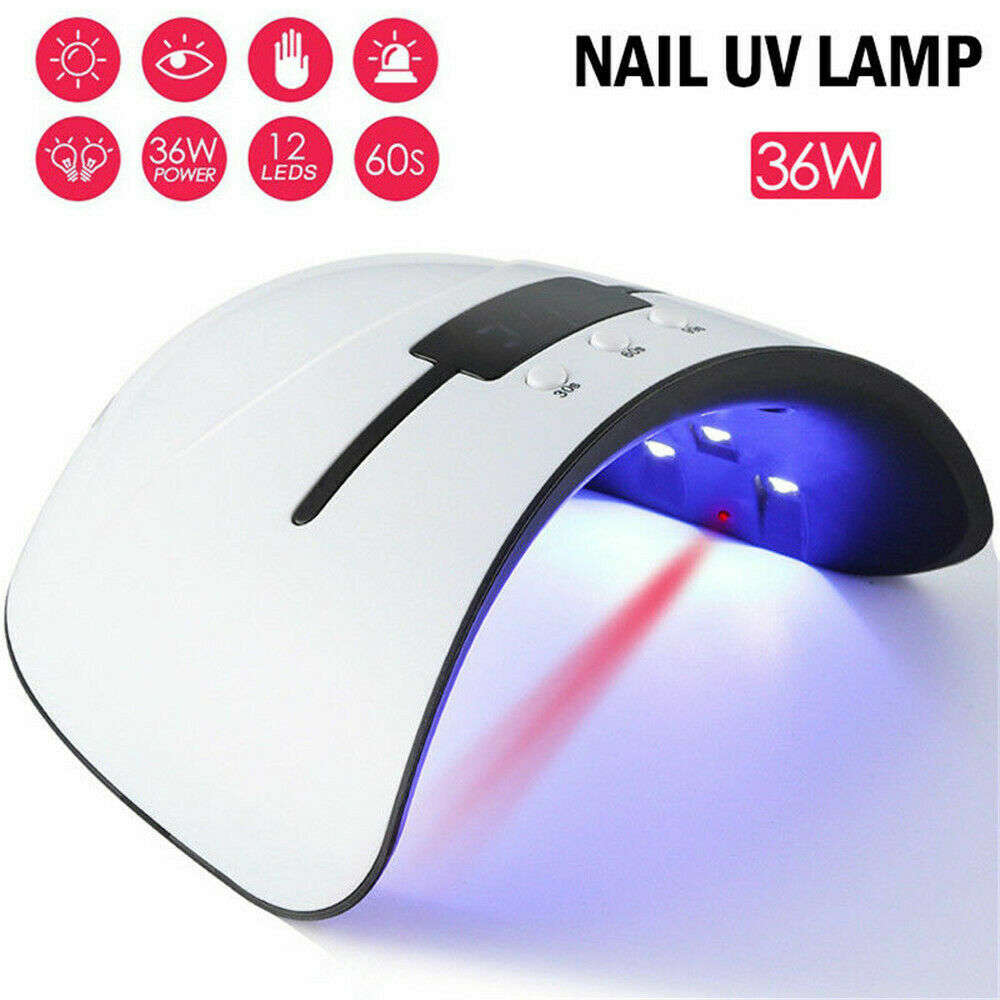 36W Nail Polish Dryer Pro UV LED Lamp Acrylic Gel Curing Light Manicure Timer OC Health & Beauty