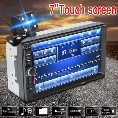 7  Double 2 DIN Car FM Stereo Radio USB MP5 MP3 Player Touch Screen Bluetooth P