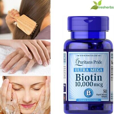 #1 BEST BIOTIN 10,000mcg HEALTHY HAIR SKIN NAILS GROWTH SUPPLEMENT 50 (Best Biotin Hair Growth Supplement)