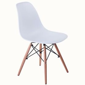 chairs vintage retro look brand new black or white