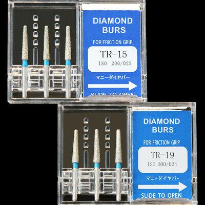 10 Boxes Tr-19 Mani Dia-burs Dental High Speed Handpiece Diamond Burs All Types