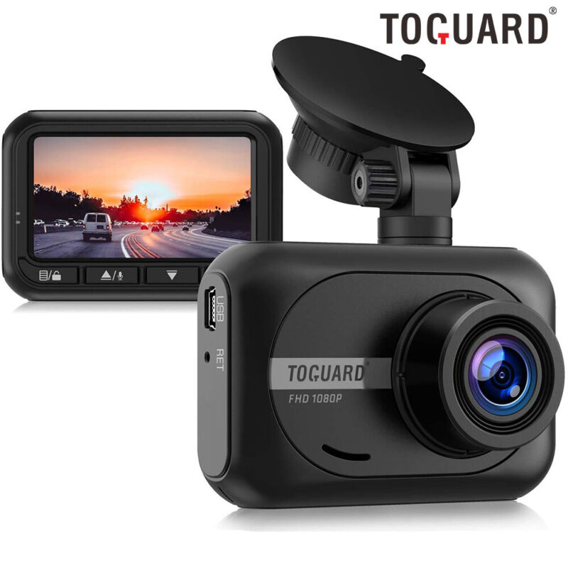 "TOGUARD Mini Dash Cam 1080P Full HD Car Camera 2.45"" Driving Recorder 170° Angle"