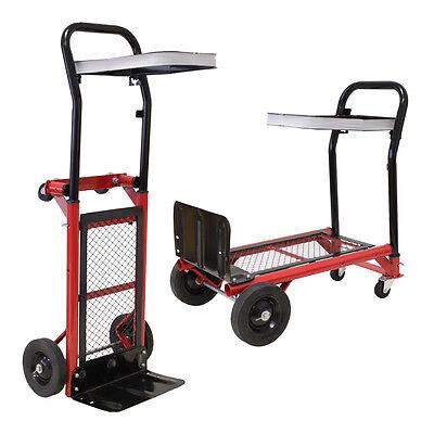 Grafner 2in1 Sackkarre Transportwagen Handkarre Stapelkarre Plattformwagen 80 kg