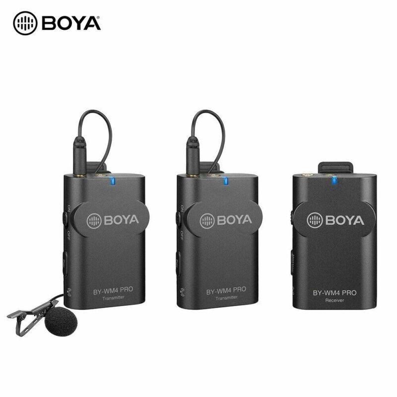 BOYA BY-WM4 Pro K2 Portable 2.4G Wireless Microphone System 2 Trans & 1 Receiver