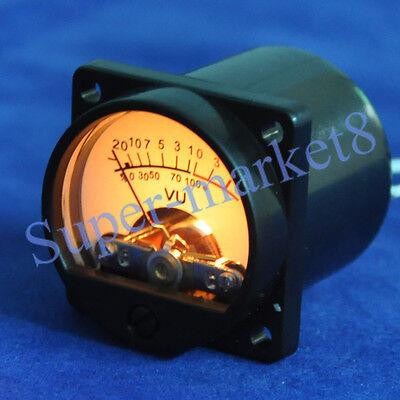 Vu Panel Meter Warm Back Light Audio Amp 35x35mm 1pc