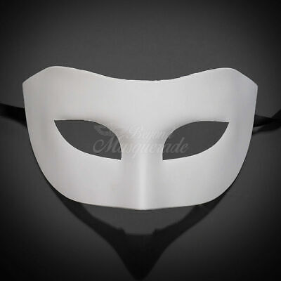 Classic Simple White DIY Venetian Mardi Gras Masquerade Mask for Men - Man Masquerade Masks