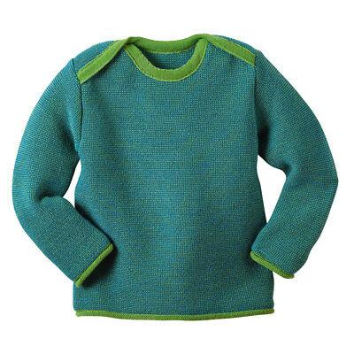 disana Baby Strick-Pullover mit Schlupfkragen Bio-Merinoschurwolle
