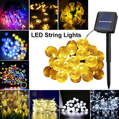 Christmas LED Solar String Lights Wedding Xmas Fairy Party Outdoor Decor Lamp (Christmas Lights Outdoor)