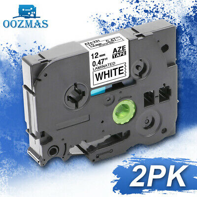 2pk Tz-231 Tze-231 Compatible Brother P-touch 12mm Laminated Label Tape Pt-d210