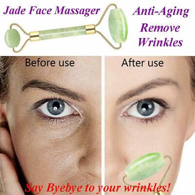 Jade Roller Facial Massage Slim Face Beauty Tool Eye Body Massager Anti Ageing