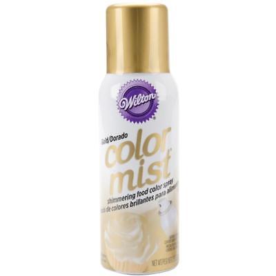Wilton COLOR MIST Shimmering Edible Food Color Spray Paint GOLD METALLIC   (Color Mist Food)