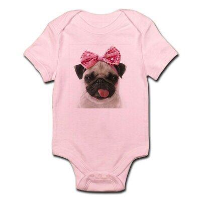 CafePress Pug Body Suit Cute Infant Bodysuit Baby Romper (1443993117)