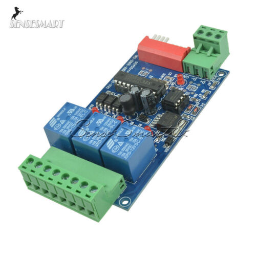 DMX512 3 Channel 5A Controlled Relay Switch Kit DIY Converter DMX Dimmer Relay