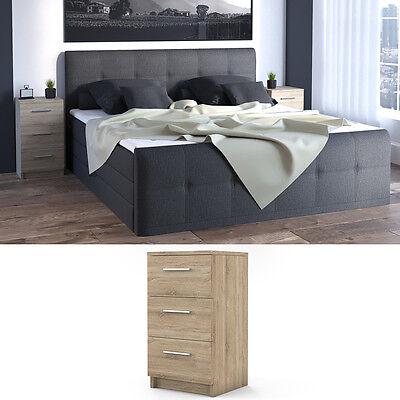 vicco nachtkommode boxspringbett nachtschrank nachttisch kommode schrank sonoma 4251421920422 ebay. Black Bedroom Furniture Sets. Home Design Ideas