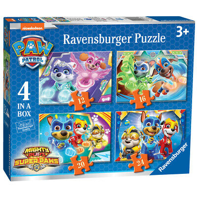 Ravensburger Paw Patrol Mighty Pups 4 in a Box Jigsaw Puzzles - 03029