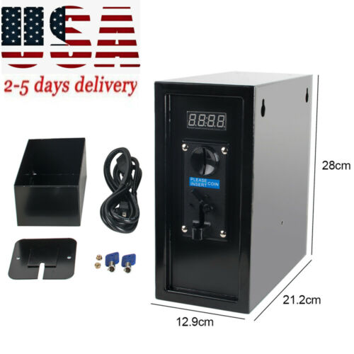 Coin Operated Timer Control Box Electronic Machine Coin Selector Acceptor Timer