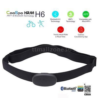 CooSpo H6 ANT Bluetooth Sport Heart Rate Monitor Smart Sensor Chest Strap W9H9