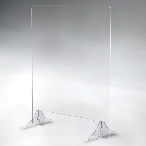 SNEEZE GUARD Acrylic Divider Cashier Barrier Shield Counter & Desk Plexiglass