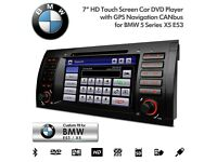BMW E53 X5 7 Inch HD Touchscreen Navigation DVD Player USB SD Aux Car Stereo