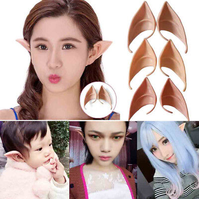 Unisex Halloween Costume Party Fairy Elf Pixie Alien Fake Pointed Ears Tips Prop](Fake Ears Costume)