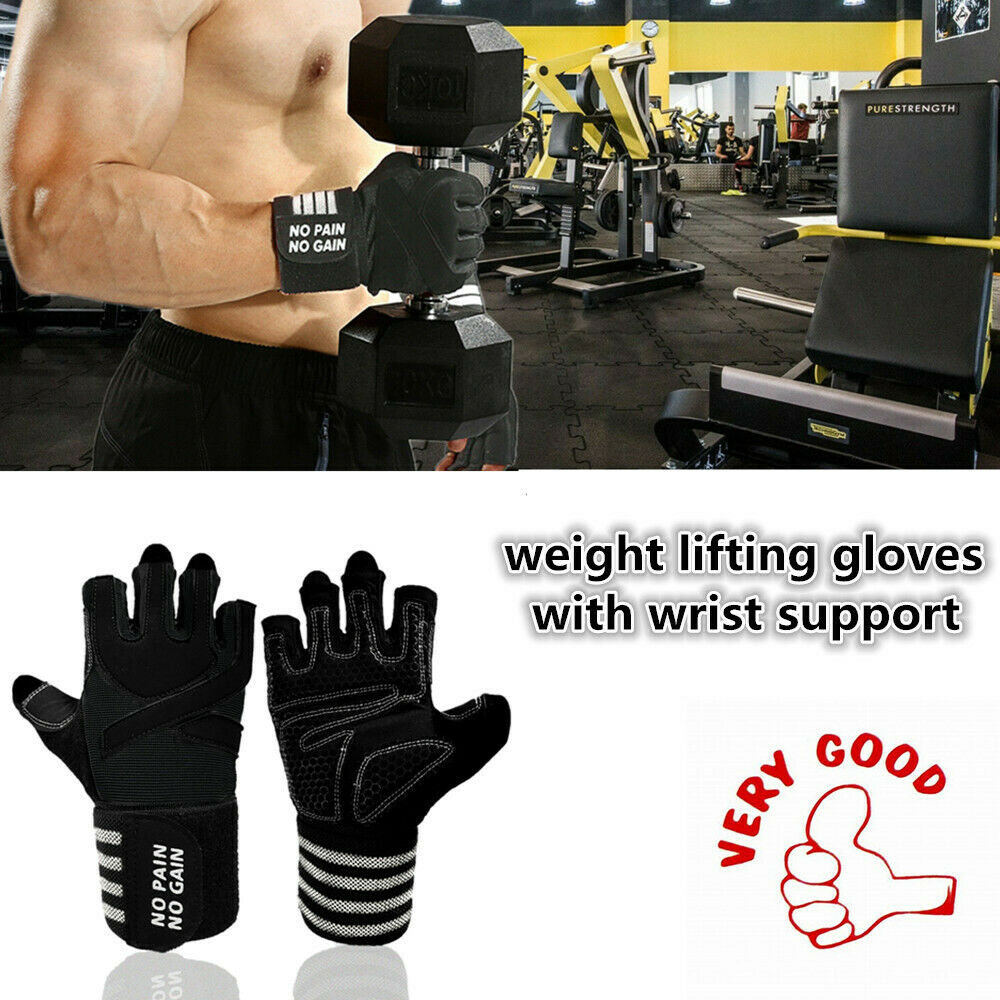 Weight Lifting Gloves With Wrist Support Body Building Worko