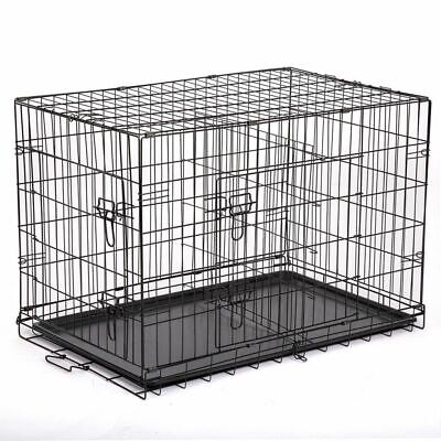 Large Dog Crate XXL Kennel Extra Huge Folding Pet Wire Cage Giant Breed Size NEW