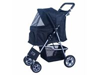 Brand new boxed, BTM Pet Travel Dog Stroller Dog Puppy Cat Pushchair with 4 Swivel Wheels(Black)