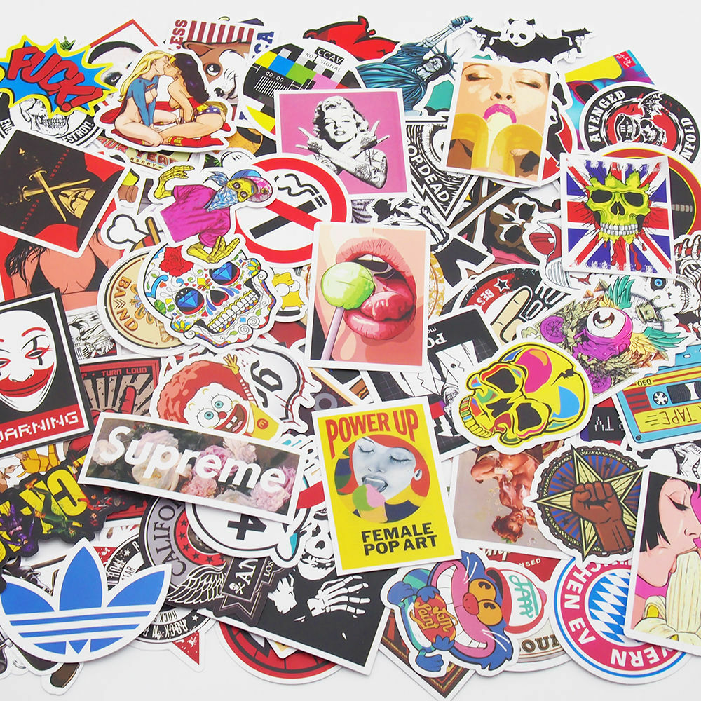 Skateboard Stickers Vintage Vinyl Laptop Luggage Decals Dope