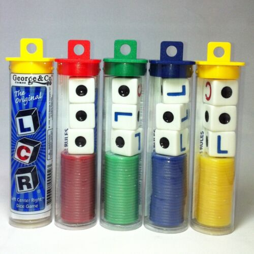 The Original LCR Left Center Right Dice Game Tube