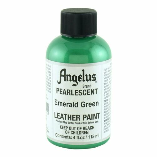 Angelus Pearlescent Acrylic Leather Paint, 4 oz bottle