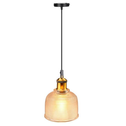 Industrial Glass Pendant Light Color Plating Ceiling Lamp Shade Hanging Fixtures 5