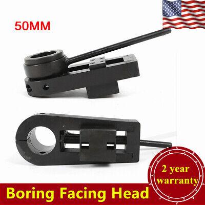 Boring Facing Head For Portable Line Boring Machine 50mm Boring Bar Tool Black