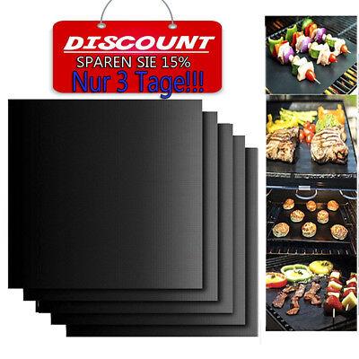 5x Grillmatte Dauer antihaft BBQ Grillmatten Bratfolie Backmatte Grillschale EGM
