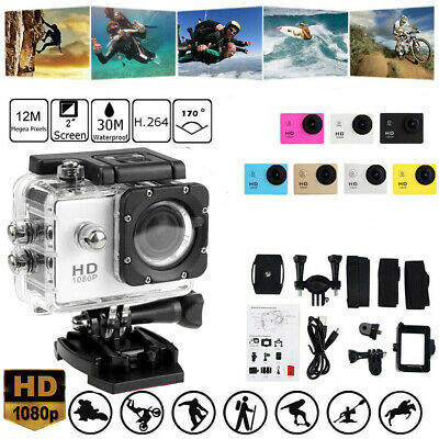 Full HD Action Camera Sport Camcorder Waterproof DVR Helmet Remote Go Pro