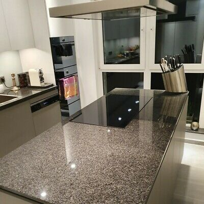 Nero Impala schwarz Küchenarbeitsplatte Gabbro Granit poliert 60cm