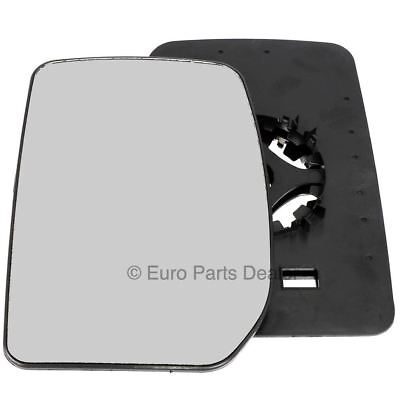 Passenger side Clip on wing door mirror glass for Ford Transit 2000 2012