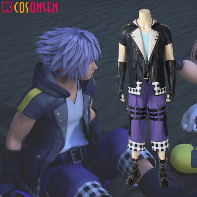 Kingdom Hearts Outfits (Cosonsen Kingdom Hearts 3 Riku Costume Cosplay Halloween Outfits Full)