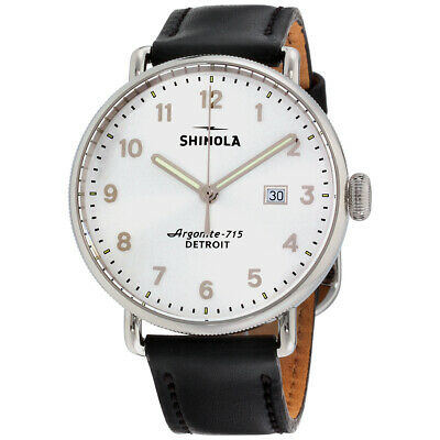 Shinola The Canfield Quartz Movement Silver Dial Men's Watch 20089881