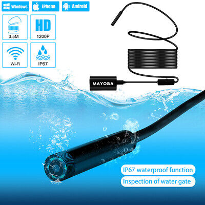 WiFi Endoscope IP67 6 LED Wireless Inspection Camera HD 1200P For iphone Android