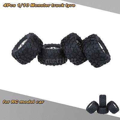 4ST/Set 1/10 Monster Truck Reifen Reifen für Traxxas HSP Tamiya HPI RC N3Z7