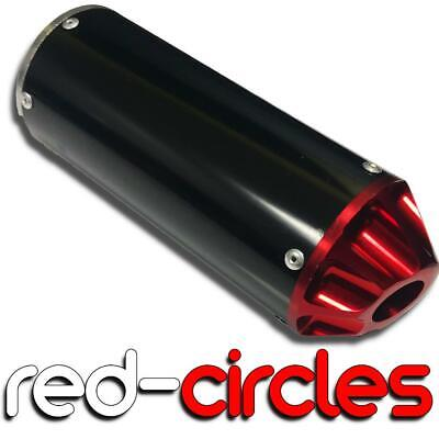 RED 28mm PIT BIKE CNC EXHAUST SILENCER / MUFFLER fits 50cc 110cc 125cc PITBIKE