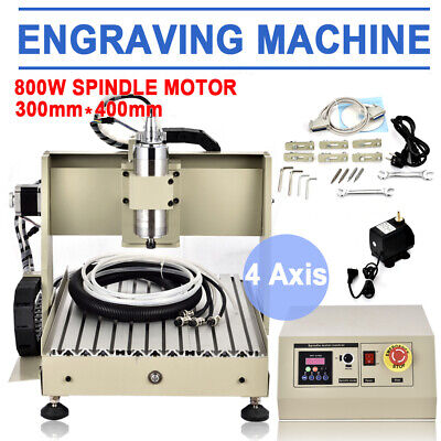 4 Axis 800w Cnc 3040 Router Engraver Machine Ball Screw Metal Milling Drilling
