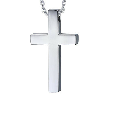 Simple Cross Pendant for Children Boy Girl Stainless Steel Small Necklace Silver - Cross Necklace For Girl