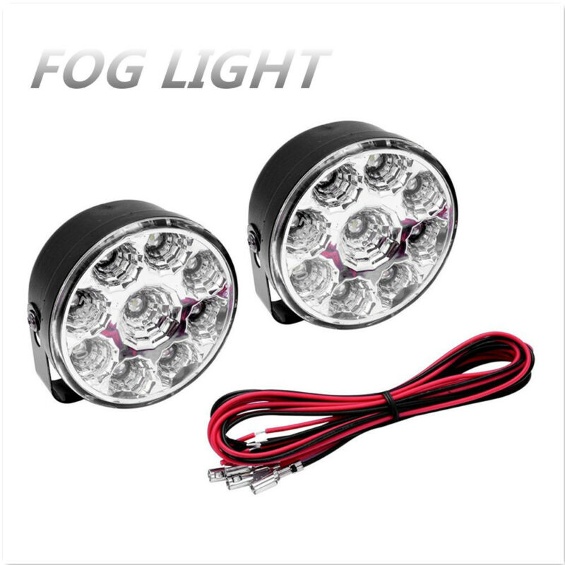 12V 9 LED Flood Beam WORK LIGHT BAR FLOOD DRIVING OFFROAD FOG LAMP SUV 4X4WD