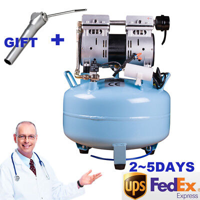 Dental Medical Silent Noiseless Oil Fume Oilless Air Compressor Unit 30l Gift