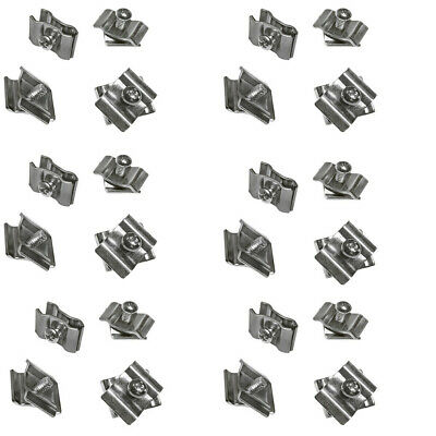 100 Pc Chrome Gridwall Joining Connectors Grid Panel Joiner Clips Joining Clamps