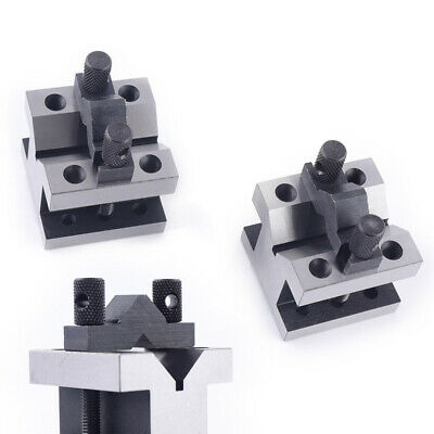 Cast Iron Vee Blocks Metalworking Matched Pair With Clamp V Block Premium On Sal